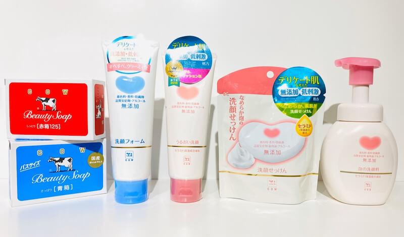 大人気「赤箱」&「青箱」で有名!【牛乳石鹸】シリーズを一挙解説!敏感肌にオススメの洗顔料はどれ?