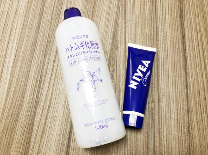 ハトムギ化粧水+ニベアクリームに美肌効果や美白作用はあるのか?検証してみた(前編)