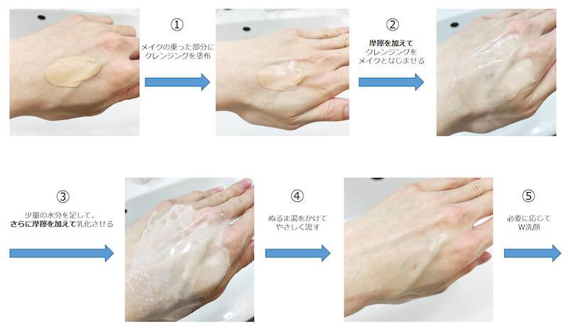 クレンジングオイルの「乳化」の重要性と【肌に残りにくいクレンジング】を簡単に見分ける方法