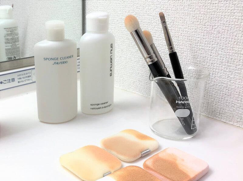 メイク用ブラシやスポンジは何で洗うべき?<専用洗剤&その他洗剤の成分について>